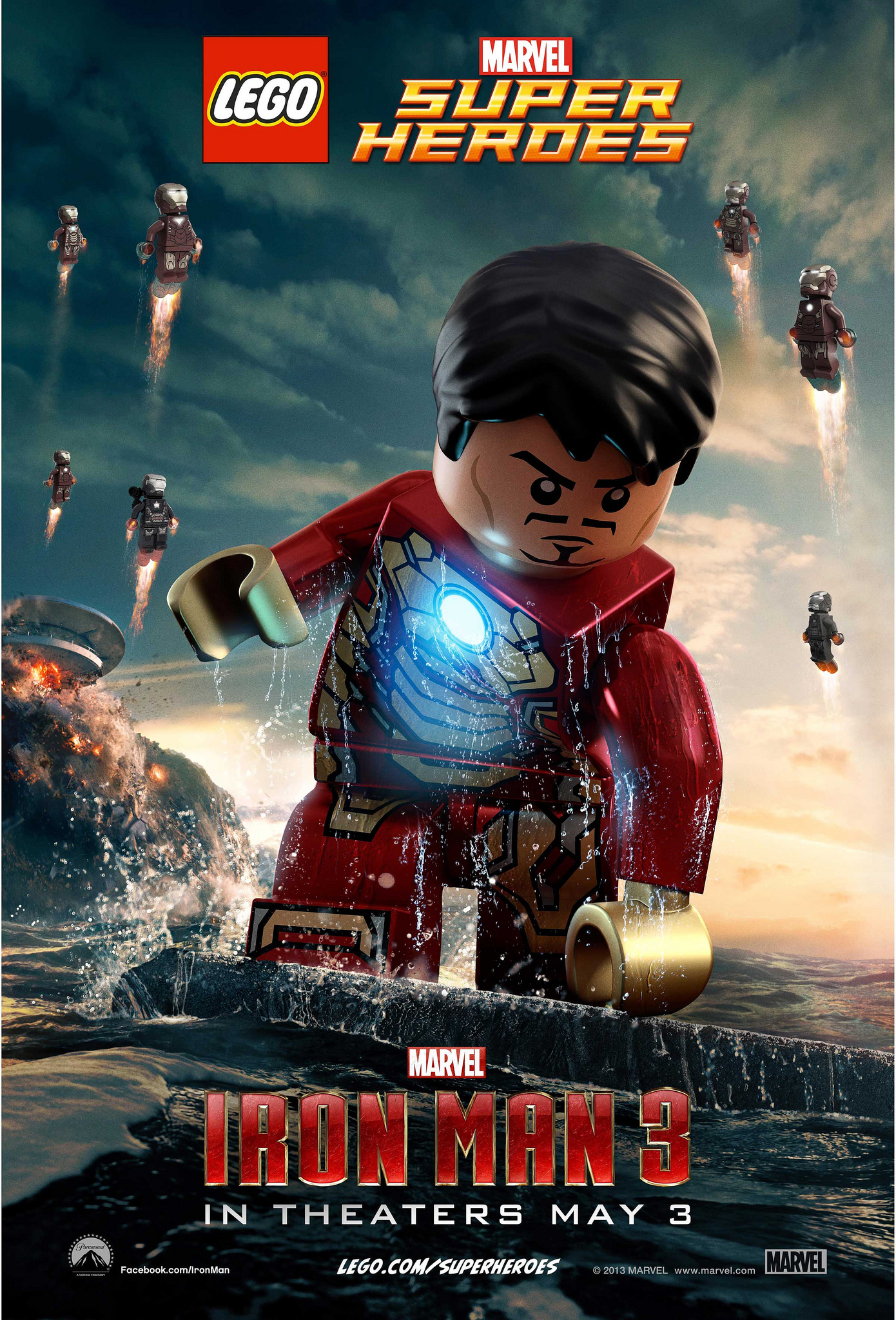 lego marvel super heroes iron man 3 poster 1