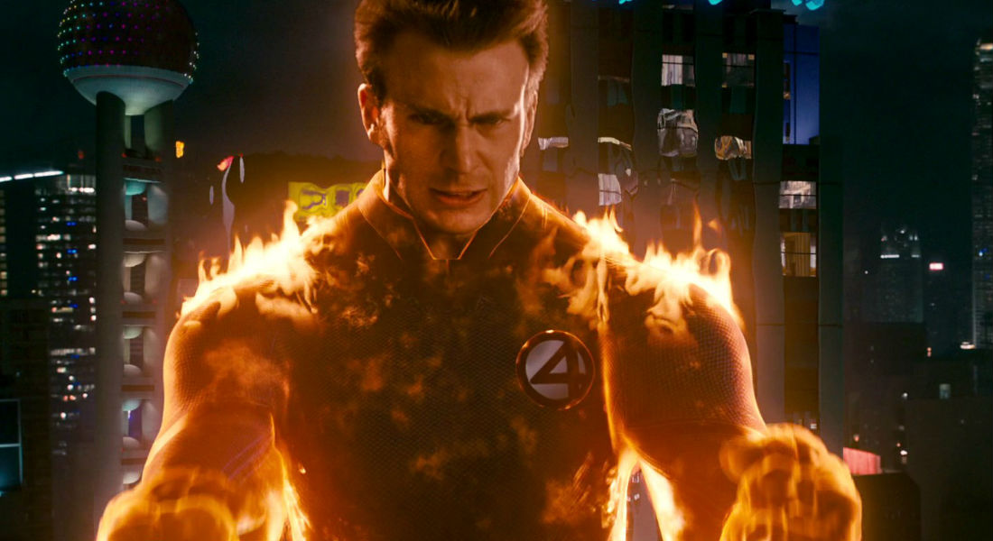 Antorcha Humana Human Torch Chris Evans Johnny Storm